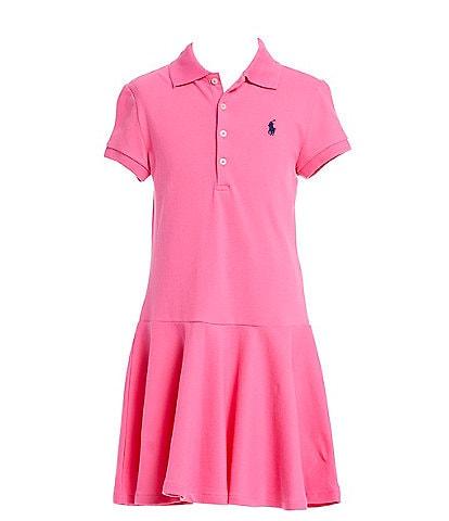 Polo Ralph Lauren Big Girls 7-16 Short-Sleeve Mesh Dropwaist Polo Dress