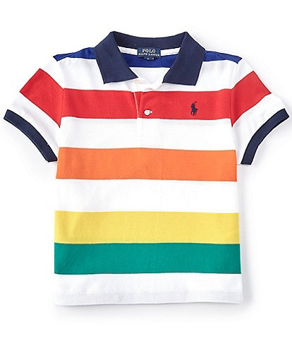 Polo Ralph Lauren Big Girls 7-16 Short-Sleeve Striped Cropped Polo