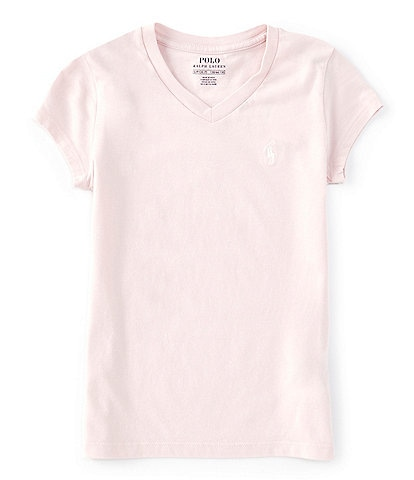 Polo Ralph Lauren Big Girls 7-16 Short-Sleeve V-Neck Essentials Tee