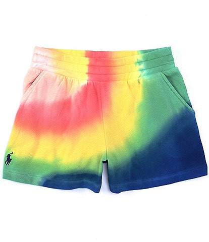 Polo Ralph Lauren Big Girls 7-16 Tie Dye Athletic French Terry Shorts