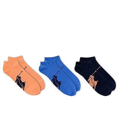Polo Ralph Lauren Big Pony Low Cut Socks 3-Pack