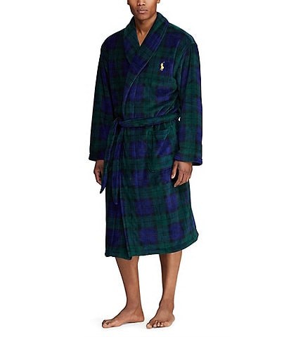 Polo Ralph Lauren Blackwatch Plaid Microfiber Robe