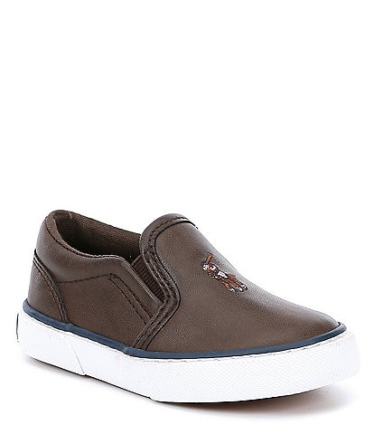 Polo Ralph Lauren Boys' Bal Harbour II Slip On Sneaker