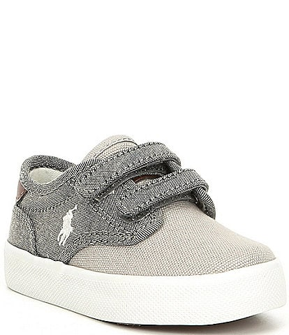 Polo Ralph Lauren Boys' Lewis EZ Chambray and Canvas Sneakers