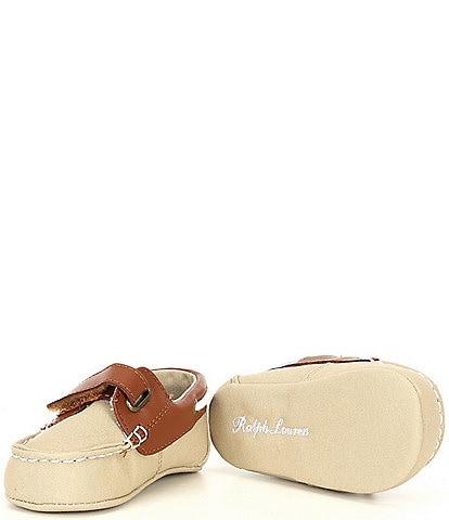 Polo Ralph Lauren Boys' Sander EZ Boat Shoe Crib Shoes (Infant)