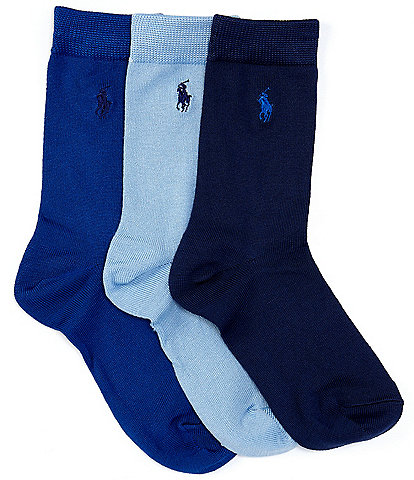 Polo Ralph Lauren Boys Supersoft Flat Socks 3-Pack