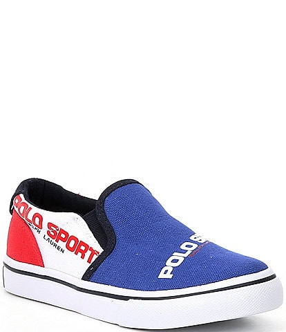 Polo Ralph Lauren Boys' Thompson Canvas Slip On Sneakers Toddler