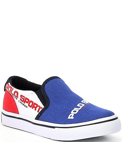 Polo Ralph Lauren Boys' Thompson Canvas Slip On Sneakers Youth