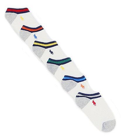 Polo Ralph Lauren Boys Vintage Low-Cut Ankle Sock 6-Pack