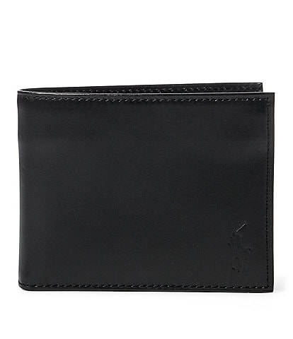 4b48d1a86d05 Polo Ralph Lauren Burnished Leather Flip ID Billfold