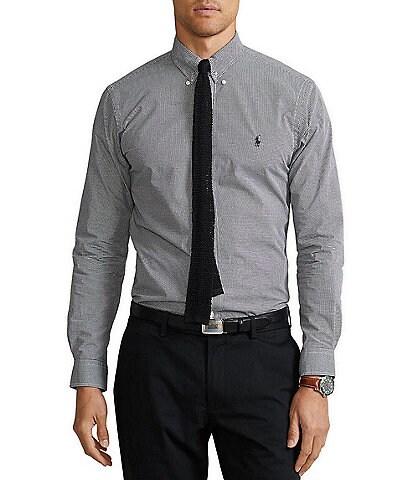 Polo Ralph Lauren Check Stretch Poplin Long-Sleeve Woven Shirt