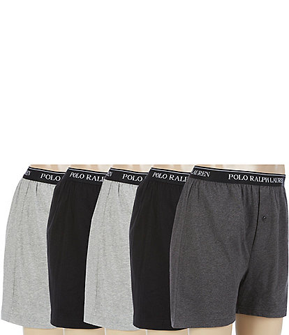 Polo Ralph Lauren Classic Cotton Knit Assorted Boxers 5-Pack