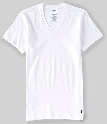 Polo Ralph Lauren Classic Cotton V-Neck Tees 5-Pack