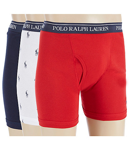 Polo Ralph Lauren Classic Fit Assorted Boxer Briefs 3-Pack