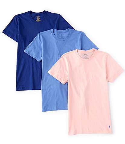 Polo Ralph Lauren Classic-Fit Assorted Solid Crew Neck Tees 3-Pack