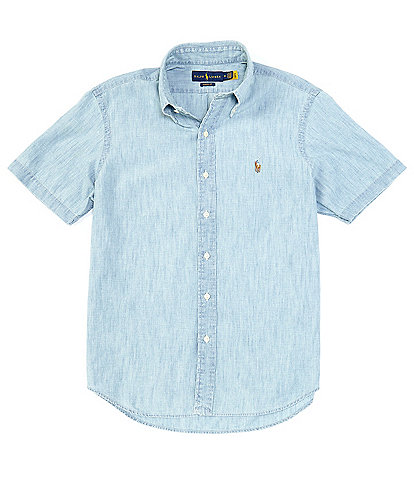 Polo Ralph Lauren Classic-Fit Chambray Short-Sleeve Woven Shirt