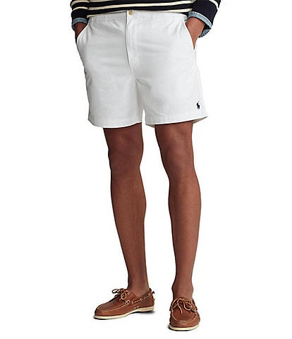 Polo Ralph Lauren Classic-Fit Flat-Front Stretch Prepster 6#double; Inseam Chino Shorts