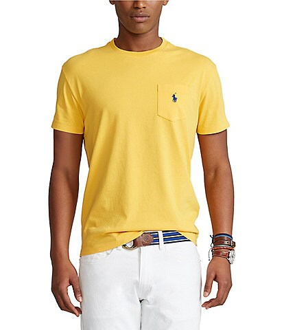 Polo Ralph Lauren Classic-Fit Jersey Short-Sleeve Pocket Tee