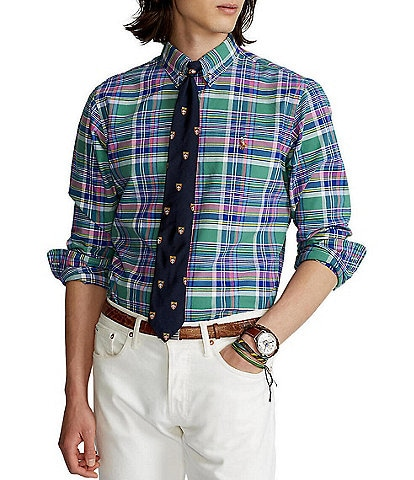 Polo Ralph Lauren Classic-Fit Large Plaid Oxford Long-Sleeve Woven Shirt