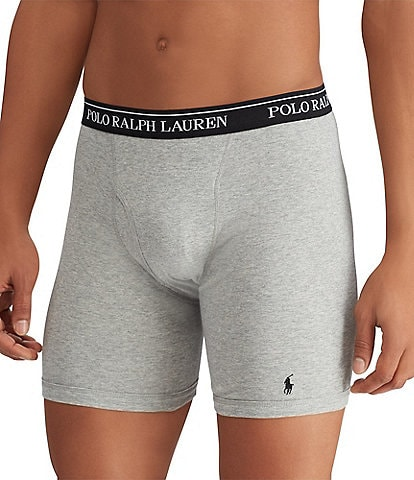 Polo Ralph Lauren Classic Fit Long Leg Assorted Boxer Briefs 3-Pack