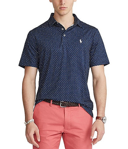 Polo Ralph Lauren Classic-Fit Micro Diamond Performance Stretch Short-Sleeve Recycled Materials Polo Shirt