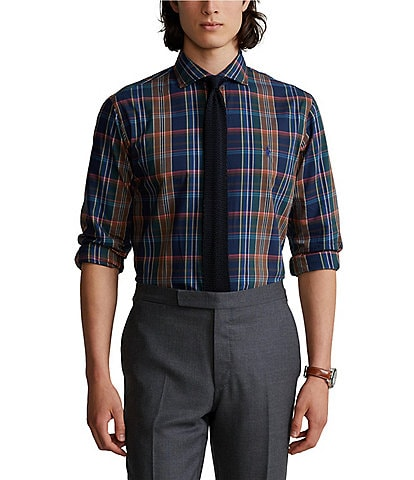 Polo Ralph Lauren Classic-Fit Multi-Color Plaid Twill Long-Sleeve Woven Shirt