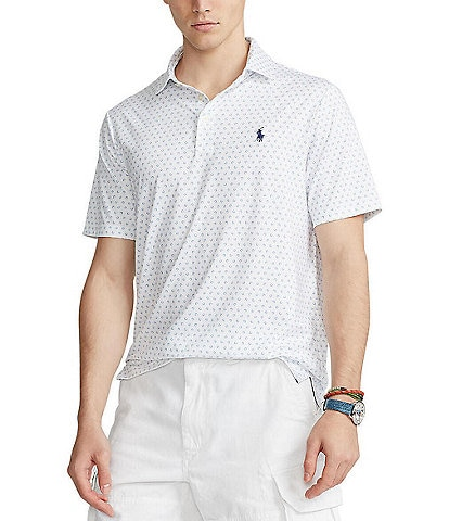 Polo Ralph Lauren Classic-Fit Performance Stretch Printed Short-Sleeve Recycled Materials Polo Shirt