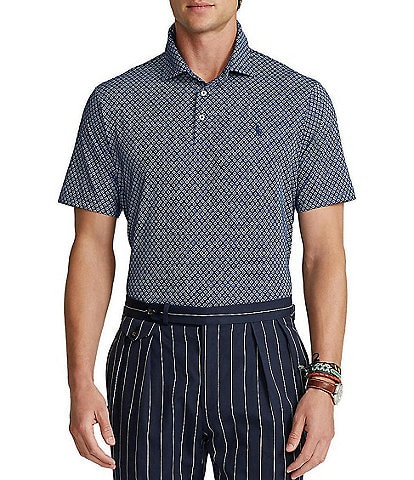 Polo Ralph Lauren Classic-Fit Printed Performance Stretch Short-Sleeve Recycled Materials Polo Shirt