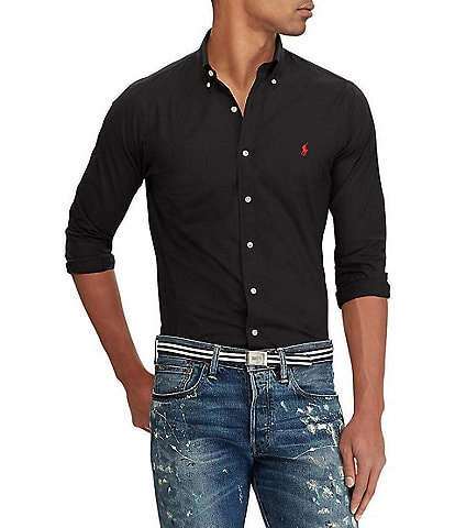Polo Ralph Lauren Classic-Fit Solid Poplin Stretch Long-Sleeve Woven Shirt