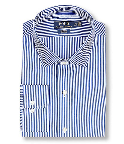 Polo Ralph Lauren Classic Fit Spread Collar Striped Dress Shirt