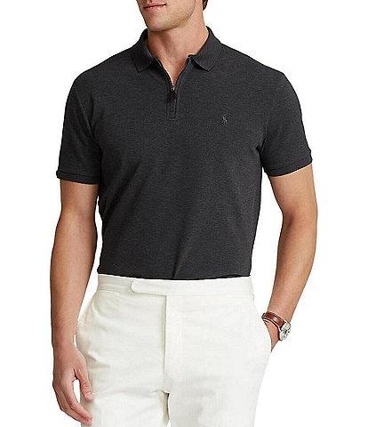 Polo Ralph Lauren Classic-Fit Stretch Mesh Short-Sleeve Zip Polo Shirt