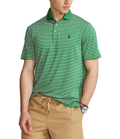 Polo Ralph Lauren Classic-Fit Stripe Performance Stretch Short-Sleeve Recycled Materials Polo Shirt
