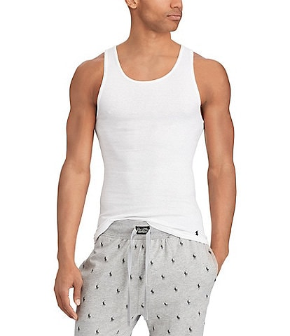 5bbe2550014347 Polo Ralph Lauren Classic Fit Tanks 3-Pack