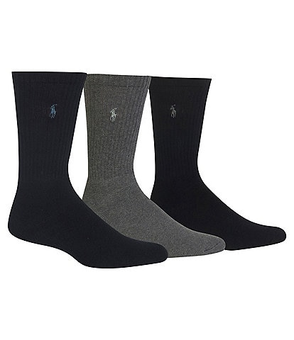 ed31483a054b Polo Ralph Lauren Cotton-Blend Socks 3-Pack