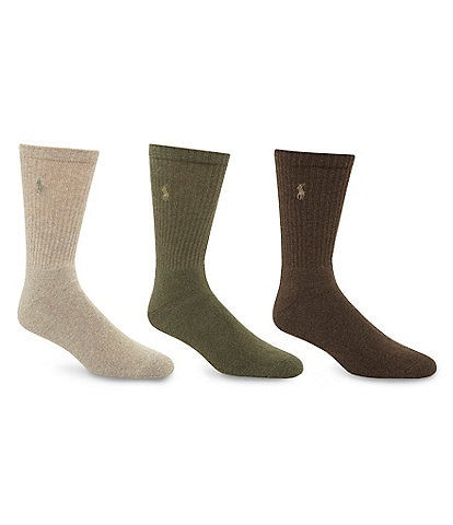 d75d4de6244 Polo Ralph Lauren Cotton-Blend Socks 3-Pack