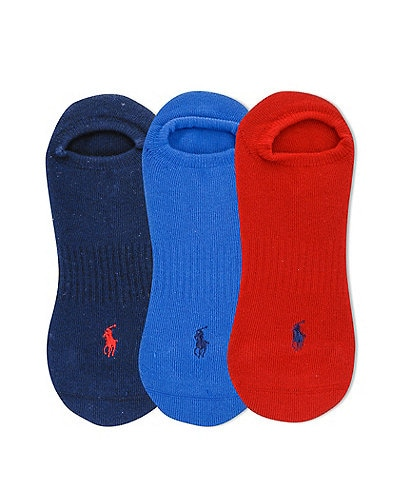 Polo Ralph Lauren Cushioned Low Cut Socks 3-Pack