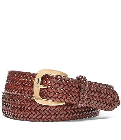 Polo Ralph Lauren Derby Braided Leather Belt