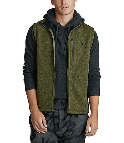 Polo Ralph Lauren Fleece Mockneck Full-Zip Vest