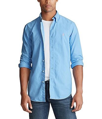 Polo Ralph Lauren Garment-Dye Oxford Long-Sleeve Woven Shirt
