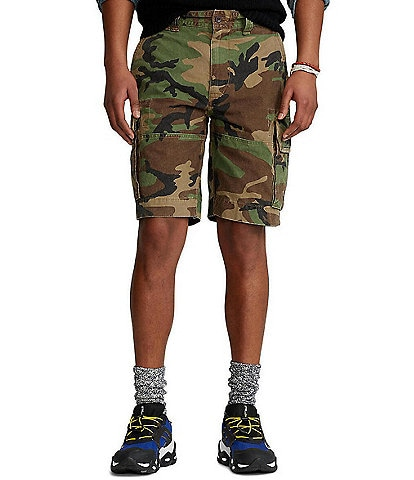 Polo Ralph Lauren Gellar Relaxed-Fit Camo Cargo 10 1/2#double; Inseam Shorts