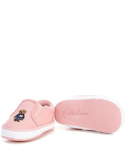 Polo Ralph Lauren Girls' Bal Harbour II Bear Crib Shoes (Infant)