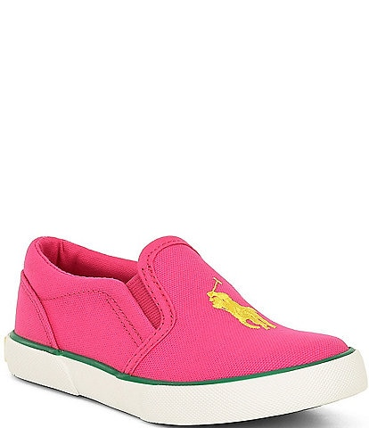 Polo Ralph Lauren Girls' Bal Harbour III Canvas Slip Ons (Infant)