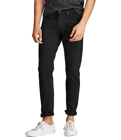 Polo Ralph Lauren Hampton Relaxed-Straight Hudson Black Stretch Jeans