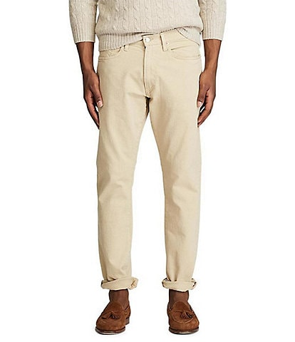 Polo Ralph Lauren Hampton Relaxed-Straight Light Khaki Stretch Denim Jeans