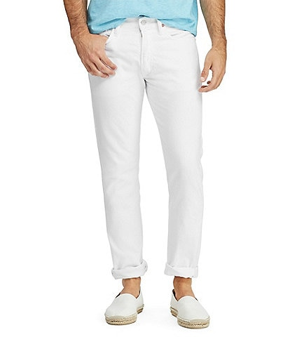 Polo Ralph Lauren Hudson White Varick Slim Straight Stretch Jeans