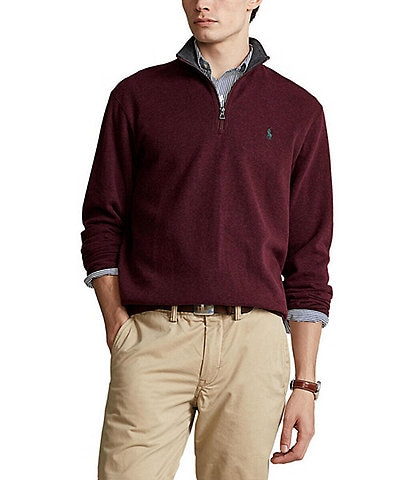 Polo Ralph Lauren Luxury Jersey Quarter-Zip Pullover