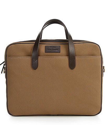 Polo Ralph Lauren Leather-Trim Canvas Commuter Briefcase