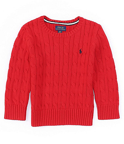 Polo Ralph Lauren Little Boys 2T-7 Cable-Knit Pullover Sweater
