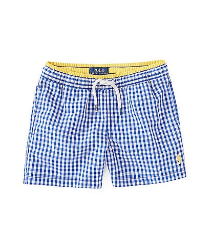 Polo Ralph Lauren Little Boys 2T-7 Checked Traveler Pony Swim Trunks
