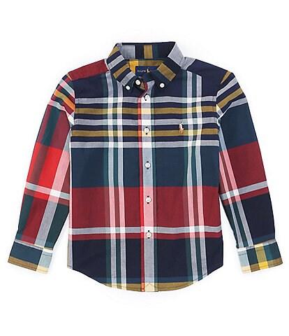 Polo Ralph Lauren Little Boys 2T-7 Long-Sleeve Button Front Plaid Poplin Shirt